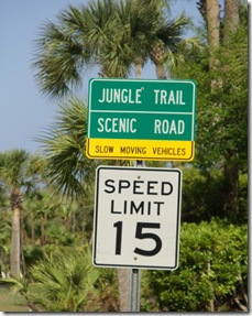 florida jungle trail sign