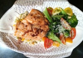 Meatless Monday – A Little Salmon and Broccoli