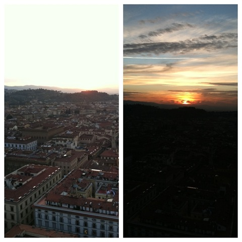 5italy sunset diptic