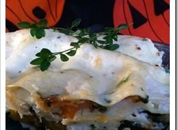 Meatless Halloween Monday-Pumpkin Lasagna