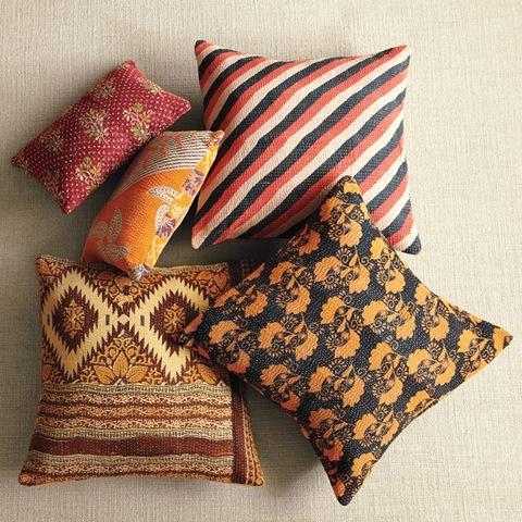 2west elm kantha pillows