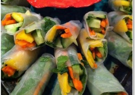 Meatless Monday-Summer Rolls to Warm up Your Winter