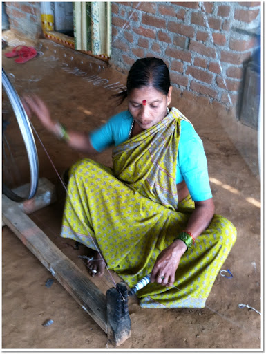 slow color and traditional weaving techniques