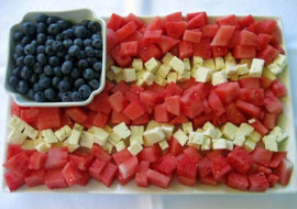 Meatless Monday with a Little Patriotic Watermelon and Feta