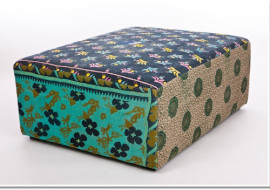 Up Cycled Kantha Cloth Ottomans-Sit a Spell