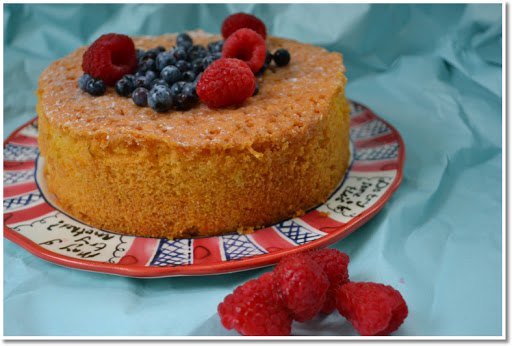 honey polenta lemon cake
