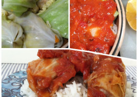 Ginger Snap Stuffed Cabbage