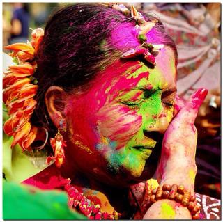 Holi Festival celebrating spring