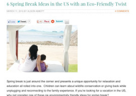 Featured Eco Travel Contributor on Don't Mess With Mama