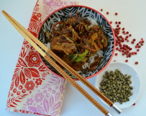 Meatless Monday Black Pepper Tofu