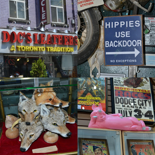 Doc's Leather and Motorcycle Gear in Toronto's West Queen West area