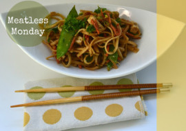 Meatless Monday Sesame Noodle Tofu