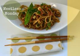 Meatless Monday Sesame Noodle Tofu