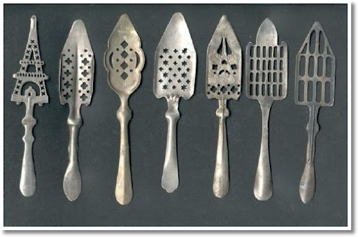 vintage silver pie servers for decor