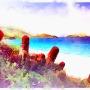 watercolor beach saint martin
