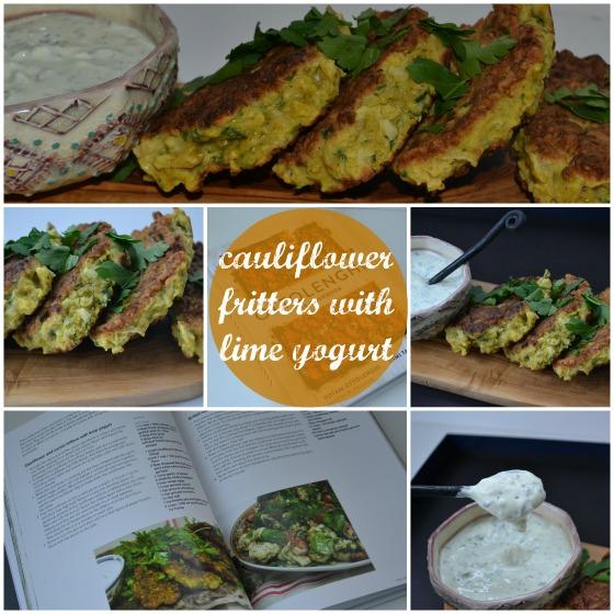 ottolenghi cauliflower cumin fritters yogurt lime sauce