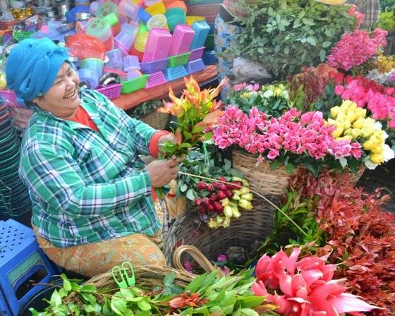 Bago Market Burma flowers myanmar