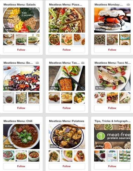 inspiration from meatless monday on pinterest