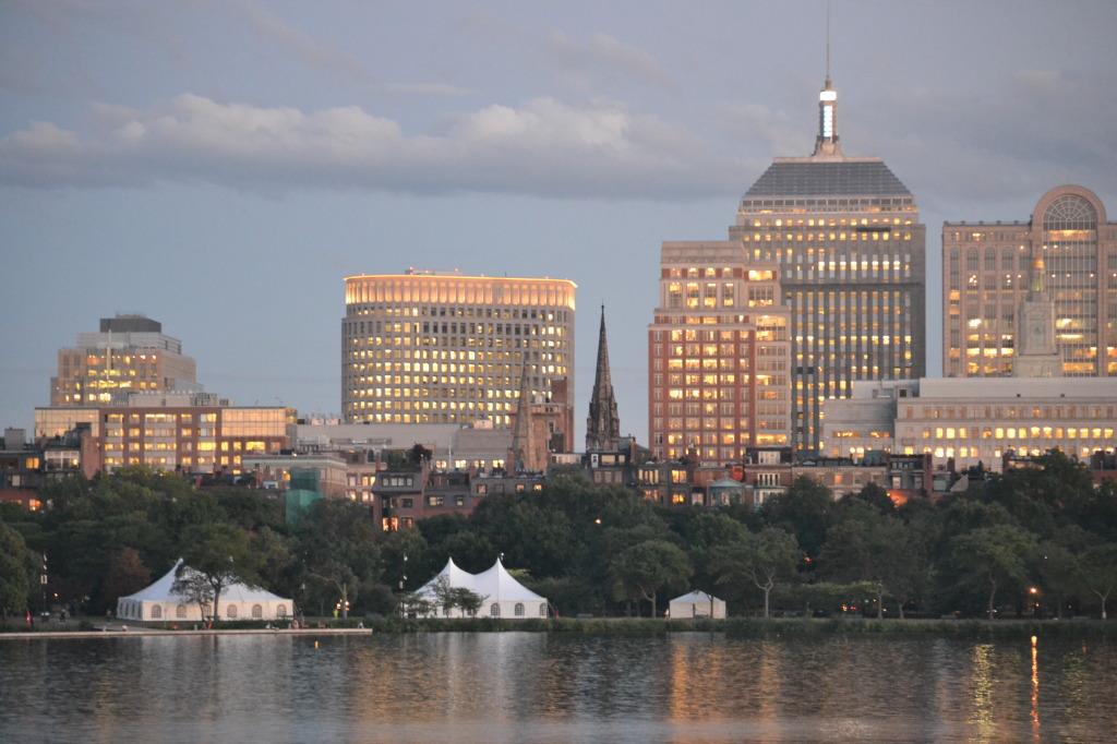 boston skyline charles river