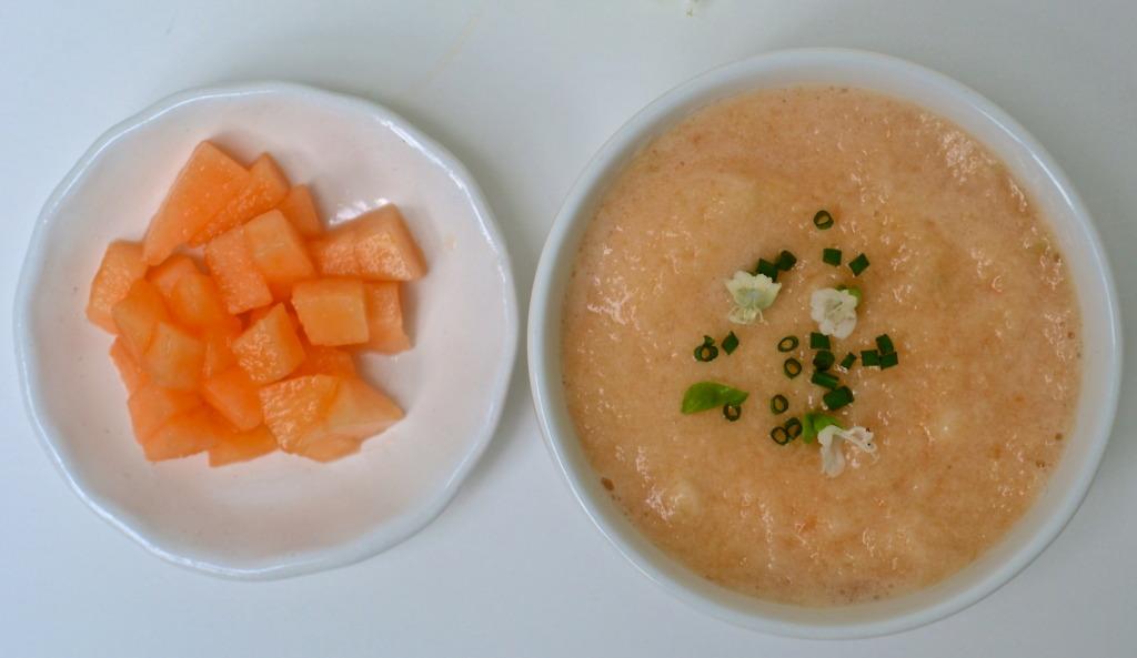 cantelope cucumber soup