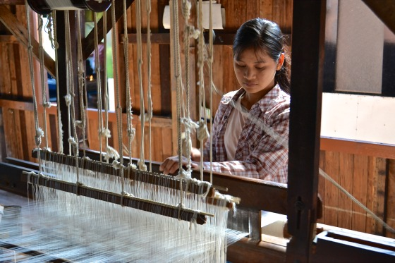 lotus weaving of inle lake Myanmar