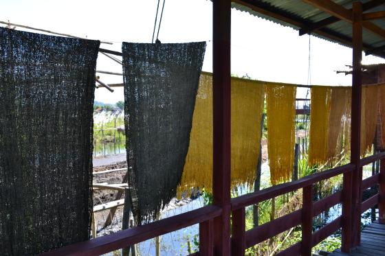 lotus weaving inle lake myanmar burma