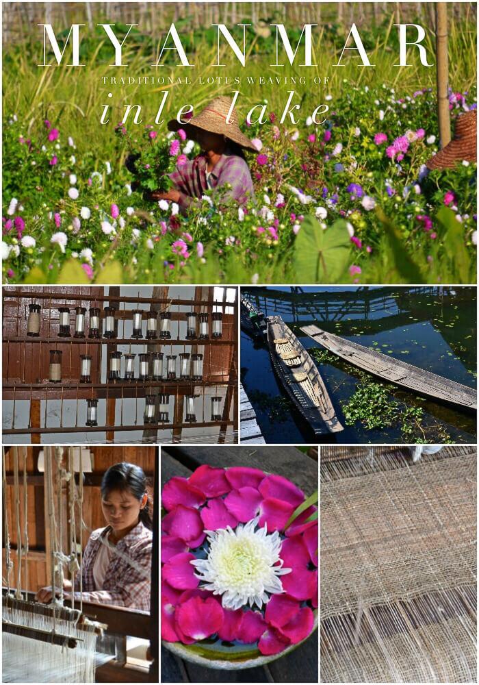 Lotus Weaving Inle Lake Myanmar
