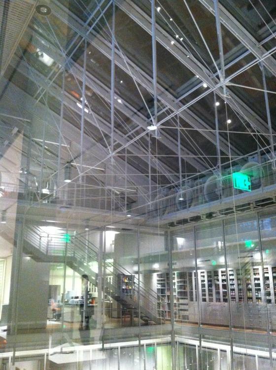 Renzo Piano designed atrium Harvard Museum
