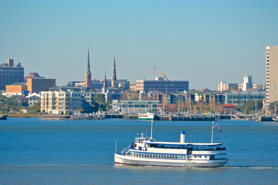Charleston South Carolina Harbor View