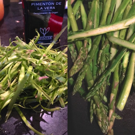 asparagus prep for fritters