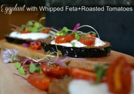 Eggplant with Whipped Feta and Tomatoes