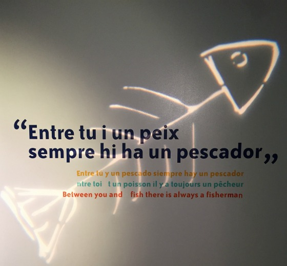sign from the fishing museum in Palamos, Spain