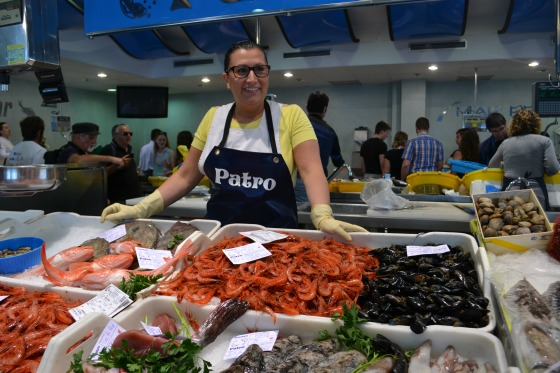 fishing market in Palamos