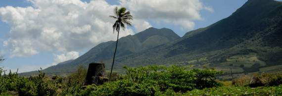 Landscape from Belle Mont Farm on St. Kitts