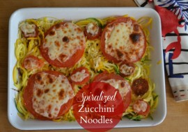 Spiralizer Zucchini Noodles Meatless Monday