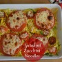 Summer squash, zucchini and roasted tomato casserole.