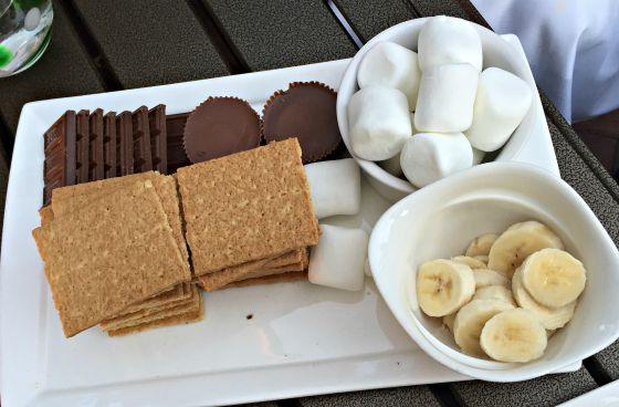 S'mores to finish off the meal at Aragosta Bistro+Bar in Boston.