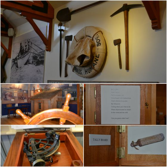 Interactive areas of the Nantucket Shipwreck and Lifesaving Museum.