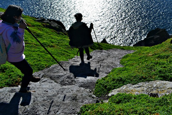 The steep stair walkway on Skellig Michael.