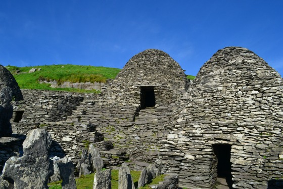 Bee hive huts at the top of Skellig Michael