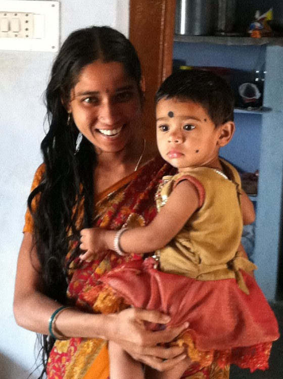 mother and child in India