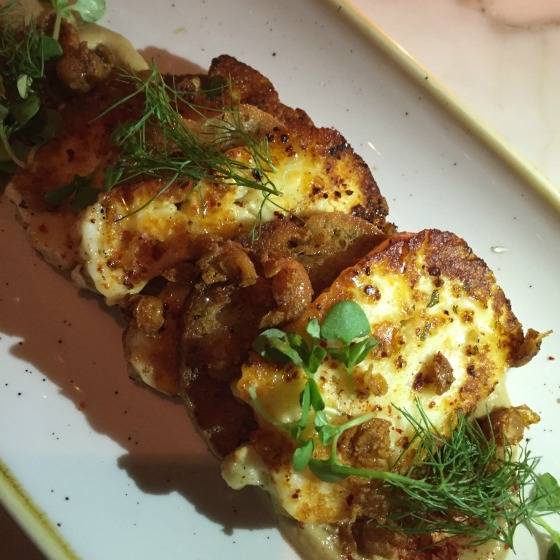 Grilled haloumi cheese from Nantucket