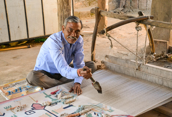 craftsman at work in Rajasthan