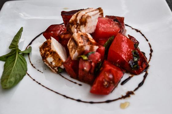 Caprese salad Camana Bay Flavor Tour