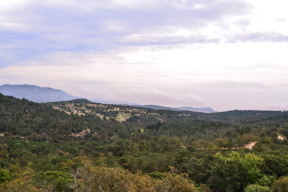Views of the sea from the hotel rooms at Sant Pere del Bosc Hotel and Spa