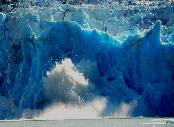 Glacier calving photo credit Pacific Catalyst II