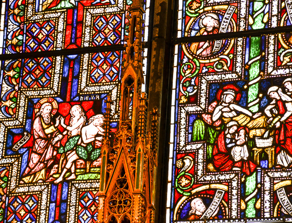 Stained glass windows at Cologne Cathedral, Germany