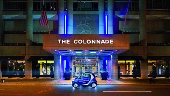 Entrance to The Colonnade for a Winter Getaway