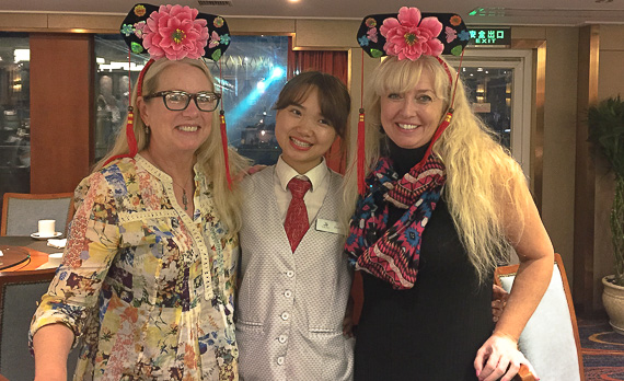 Friendly staff on board Viking Rivers China cruise