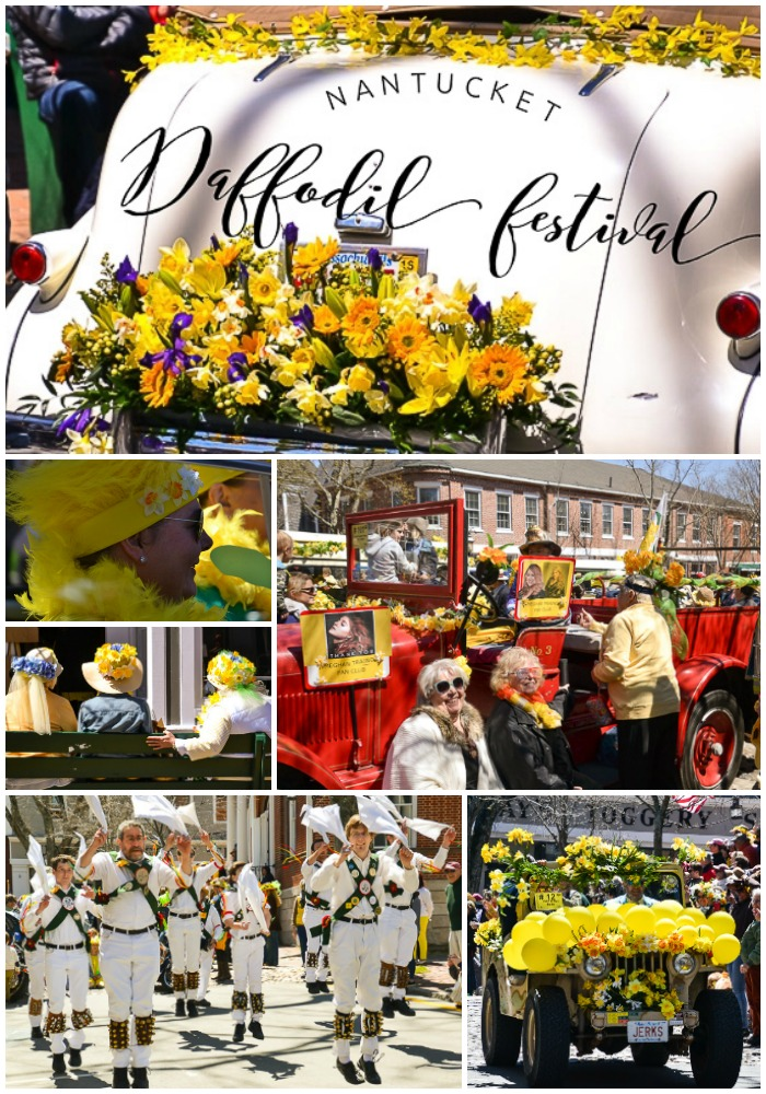 Nantucket Daffodil Festival collage
